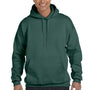 Hanes Mens Ultimate Cotton PrintPro XP Hooded Sweatshirt Hoodie - Deep Forest Green