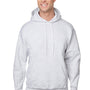 Hanes Mens Ultimate Cotton PrintPro XP Hooded Sweatshirt Hoodie - Ash Grey