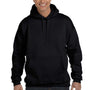 Hanes Mens Ultimate Cotton PrintPro XP Hooded Sweatshirt Hoodie - Black