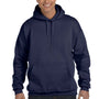 Hanes Mens Ultimate Cotton PrintPro XP Hooded Sweatshirt Hoodie - Navy Blue