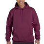 Hanes Mens Ultimate Cotton PrintPro XP Hooded Sweatshirt Hoodie - Maroon