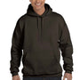 Hanes Mens Ultimate Cotton PrintPro XP Hooded Sweatshirt Hoodie - Dark Chocolate Brown