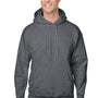 Hanes Mens Ultimate Cotton PrintPro XP Hooded Sweatshirt Hoodie - Heather Charcoal Grey