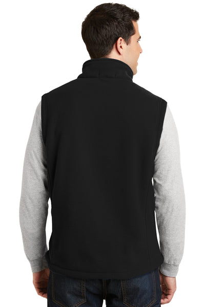 Port Authority F219 Mens Full Zip Fleece Vest Black Back