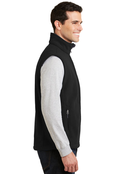 Port Authority F219 Mens Full Zip Fleece Vest Black Side
