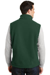 Port Authority F219 Mens Full Zip Fleece Vest Forest Green Back