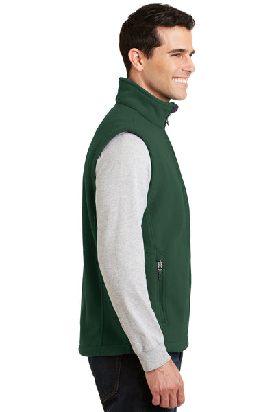 Port Authority F219 Mens Full Zip Fleece Vest Forest Green Side