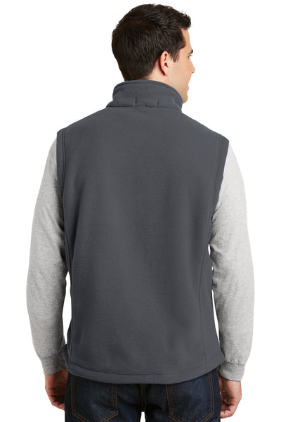Port Authority F219 Mens Full Zip Fleece Vest Iron Grey Back
