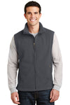 Port Authority F219 Mens Full Zip Fleece Vest Iron Grey Front