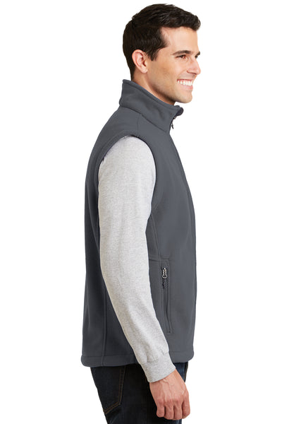 Port Authority F219 Mens Full Zip Fleece Vest Iron Grey Side
