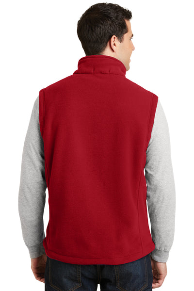 Port Authority F219 Mens Full Zip Fleece Vest Red Back