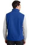 Port Authority F219 Mens Full Zip Fleece Vest Royal Blue Back
