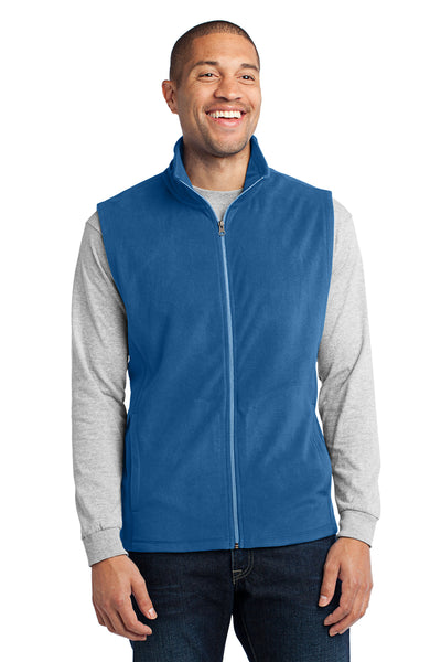 Port Authority F226 Mens Full Zip Microfleece Vest Royal Blue Front