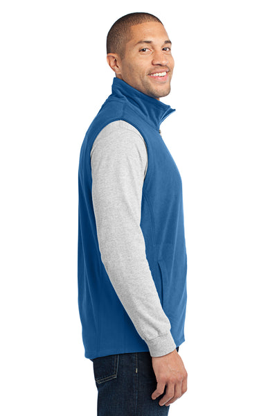 Port Authority F226 Mens Full Zip Microfleece Vest Royal Blue Side