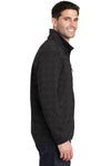 Port Authority F232 Mens Full Zip Sweater Fleece Jacket Heather Black Side