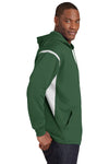 Sport-Tek F246 Mens Tech Moisture Wicking Fleece Hooded Sweatshirt Hoodie Forest Green/White Side