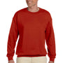 Hanes Mens Ultimate Cotton PrintPro XP Crewneck Sweatshirt - Deep Red