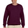 Hanes Mens Ultimate Cotton PrintPro XP Crewneck Sweatshirt - Maroon