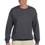 Hanes Mens Ultimate Cotton PrintPro XP Crewneck Sweatshirt - Heather Charcoal Grey