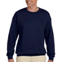 Hanes Mens Ultimate Cotton PrintPro XP Crewneck Sweatshirt - Navy Blue