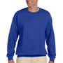 Hanes Mens Ultimate Cotton PrintPro XP Crewneck Sweatshirt - Deep Royal Blue