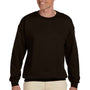 Hanes Mens Ultimate Cotton PrintPro XP Crewneck Sweatshirt - Dark Chocolate Brown