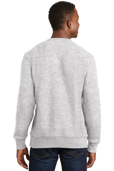 Sport-Tek F280 Mens Fleece Crewneck Sweatshirt Heather Grey Back