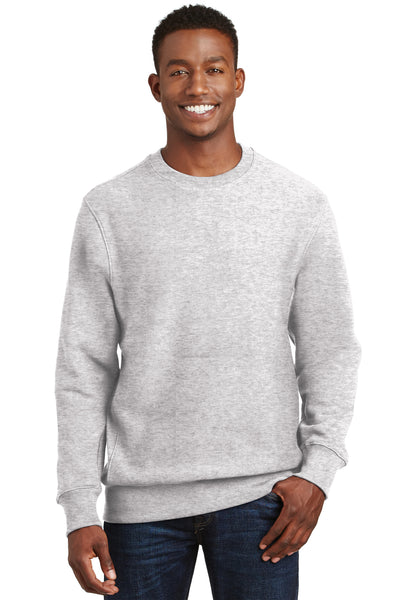 Sport-Tek F280 Mens Fleece Crewneck Sweatshirt Heather Grey Front