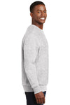 Sport-Tek F280 Mens Fleece Crewneck Sweatshirt Heather Grey Side