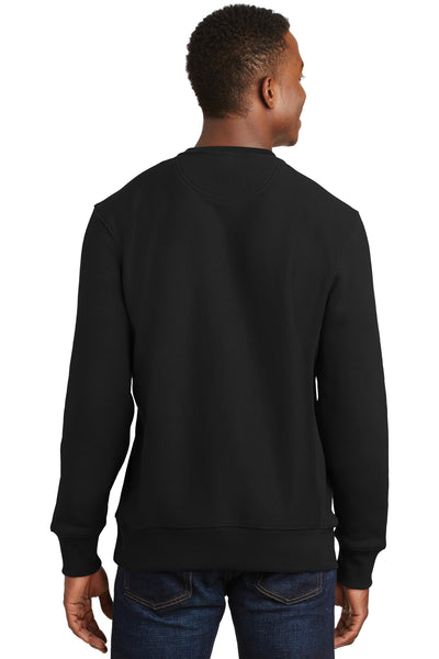 Sport-Tek F280 Mens Fleece Crewneck Sweatshirt Black Back