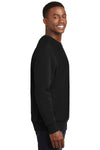Sport-Tek F280 Mens Fleece Crewneck Sweatshirt Black Side