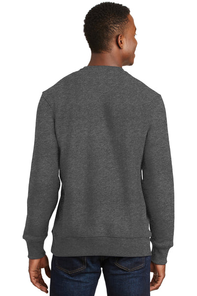 Sport-Tek F280 Mens Fleece Crewneck Sweatshirt Heather Graphite Grey Back