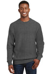 Sport-Tek F280 Mens Fleece Crewneck Sweatshirt Heather Graphite Grey Front