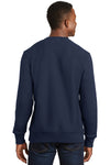 Sport-Tek F280 Mens Fleece Crewneck Sweatshirt Navy Blue Back