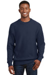 Sport-Tek F280 Mens Fleece Crewneck Sweatshirt Navy Blue Front