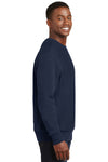Sport-Tek F280 Mens Fleece Crewneck Sweatshirt Navy Blue Side