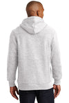 Sport-Tek F281 Mens Fleece Hooded Sweatshirt Hoodie Heather Grey Back