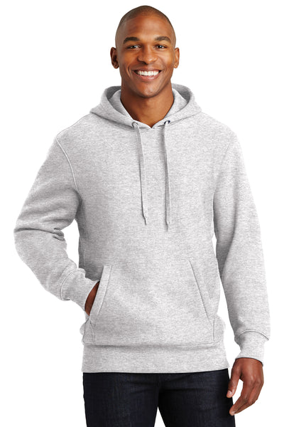 Sport-Tek F281 Mens Fleece Hooded Sweatshirt Hoodie Heather Grey Front
