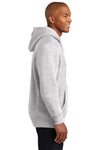 Sport-Tek F281 Mens Fleece Hooded Sweatshirt Hoodie Heather Grey Side