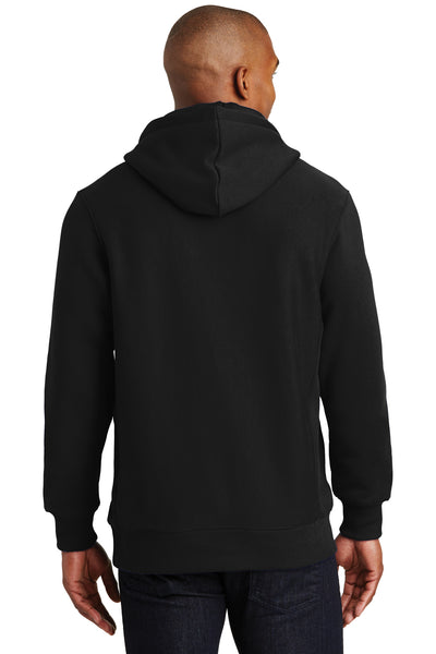 Sport-Tek F281 Mens Fleece Hooded Sweatshirt Hoodie Black Back
