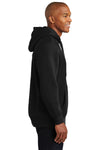 Sport-Tek F281 Mens Fleece Hooded Sweatshirt Hoodie Black Side