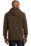 Sport-Tek F281 Mens Fleece Hooded Sweatshirt Hoodie Brown Back