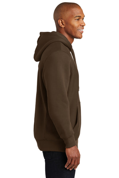 Sport-Tek F281 Mens Fleece Hooded Sweatshirt Hoodie Brown Side