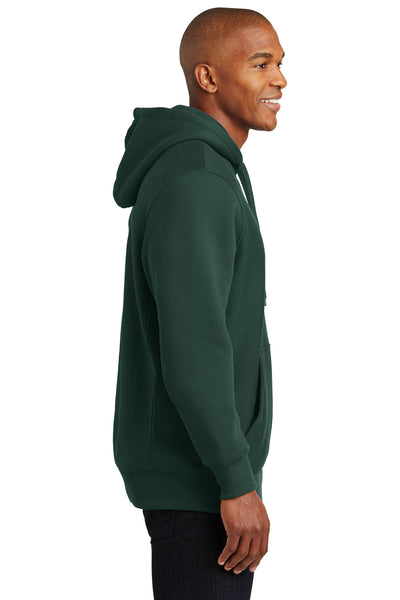Sport-Tek F281 Mens Fleece Hooded Sweatshirt Hoodie Forest Green Side