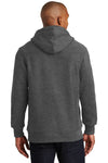 Sport-Tek F281 Mens Fleece Hooded Sweatshirt Hoodie Heather Graphite Grey Back