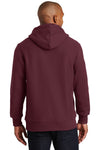 Sport-Tek F281 Mens Fleece Hooded Sweatshirt Hoodie Maroon Back