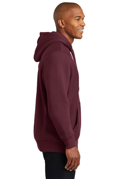 Sport-Tek F281 Mens Fleece Hooded Sweatshirt Hoodie Maroon Side