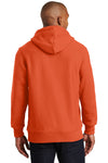 Sport-Tek F281 Mens Fleece Hooded Sweatshirt Hoodie Orange Back