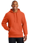 Sport-Tek F281 Mens Fleece Hooded Sweatshirt Hoodie Orange Front