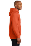 Sport-Tek F281 Mens Fleece Hooded Sweatshirt Hoodie Orange Side